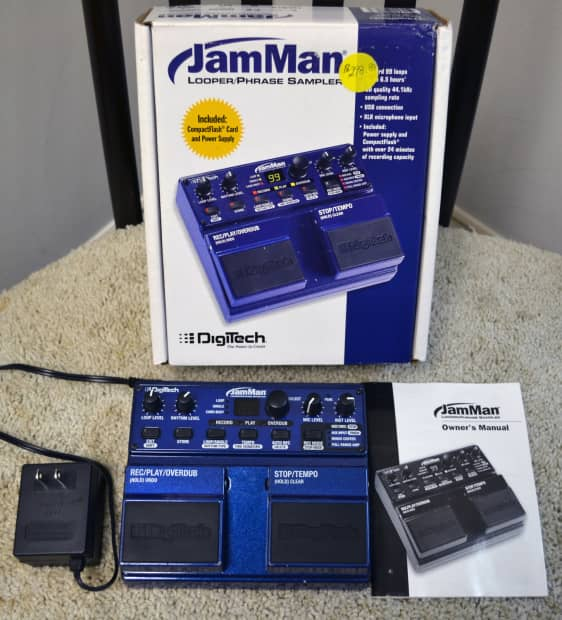 Digitech Jamman Looper Phrase Sampler Reverb