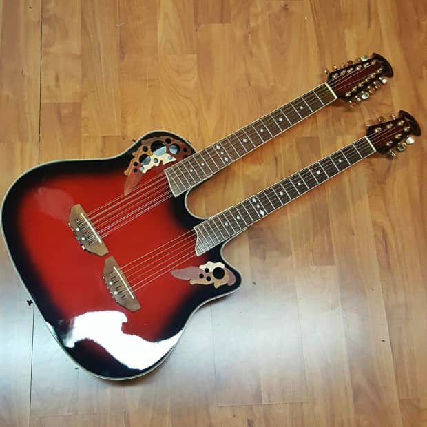 Ovation CSE225 Celebrity Double Neck Acoustic-Electric ...