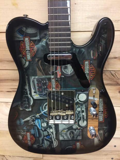 harley davidson strat tele style electric guitar reverb. Black Bedroom Furniture Sets. Home Design Ideas