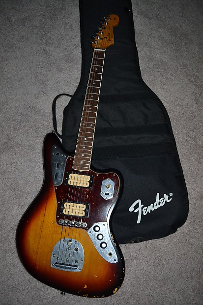 fender kurt cobain jaguar electric guitar hh roadworn. Black Bedroom Furniture Sets. Home Design Ideas