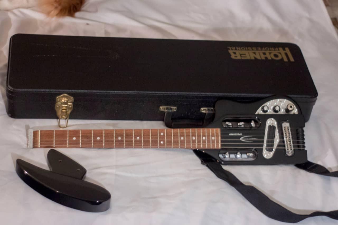 traveler guitar speedster black w hard shell case reverb. Black Bedroom Furniture Sets. Home Design Ideas