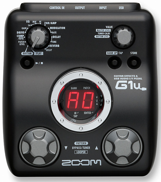 zoom g1u guitar multi effects pedal with usb zfx tools reverb. Black Bedroom Furniture Sets. Home Design Ideas