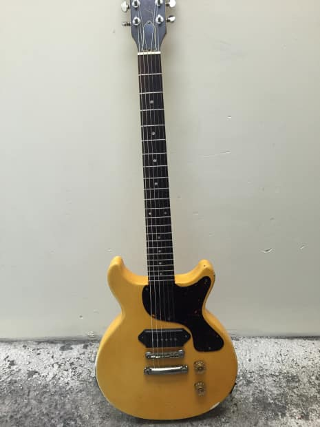 Gibson Les Paul Jr Junior Double Cut Dc 1987 Tv Yellow P90