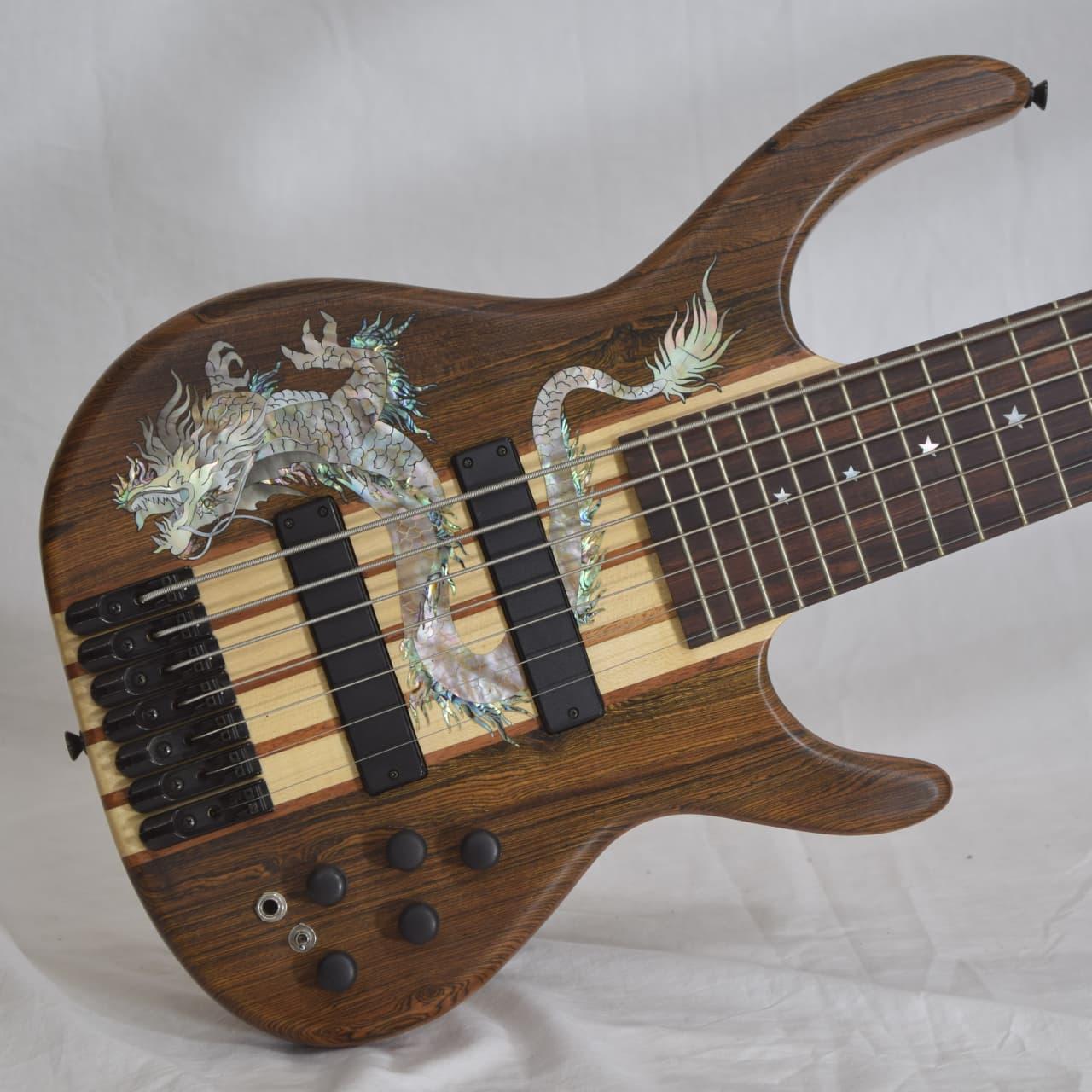 antonio tsai 7 string bass guitar 2016 mexico bocote abalone reverb. Black Bedroom Furniture Sets. Home Design Ideas