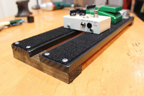 beautiful hand made pedal board for guitar or bass 18x6 reverb. Black Bedroom Furniture Sets. Home Design Ideas