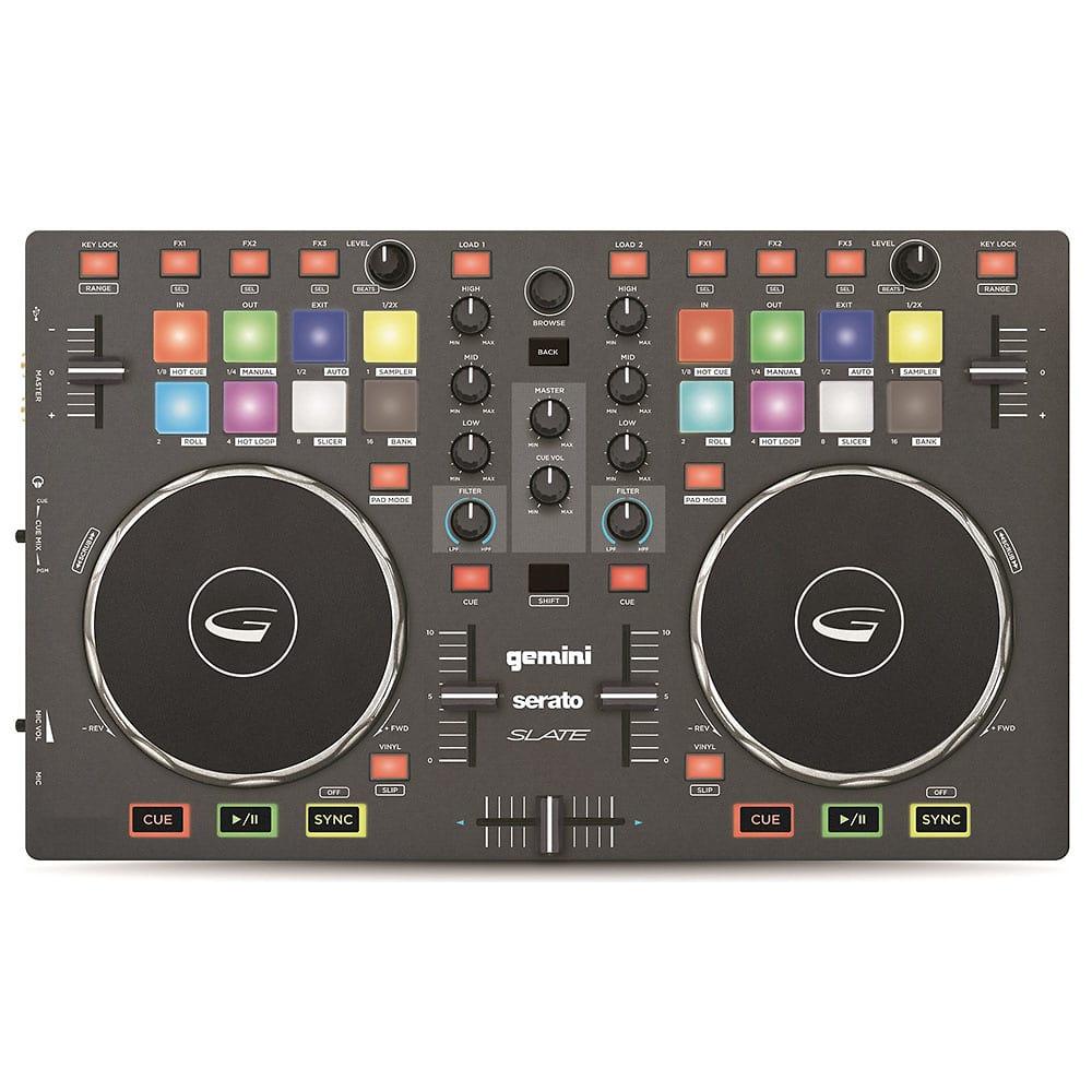 Gemini SLATE 2-Channel Slim DJ Controller with Serato DJ   Reverb