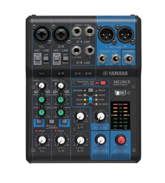 Yamaha Stereo Mixer Digital Effects : yamaha mg06x 6 input compact stereo mixer with effects reverb ~ Hamham.info Haus und Dekorationen