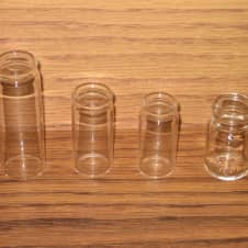 Blooze Bottle 4 Pack - Clear Glass Guitar Slides image