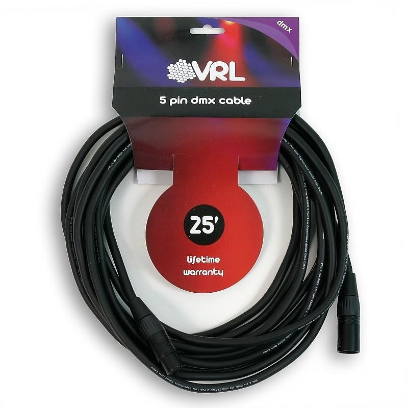 VRL VRLDMX5P25 5 Pin DMX Cable 25'