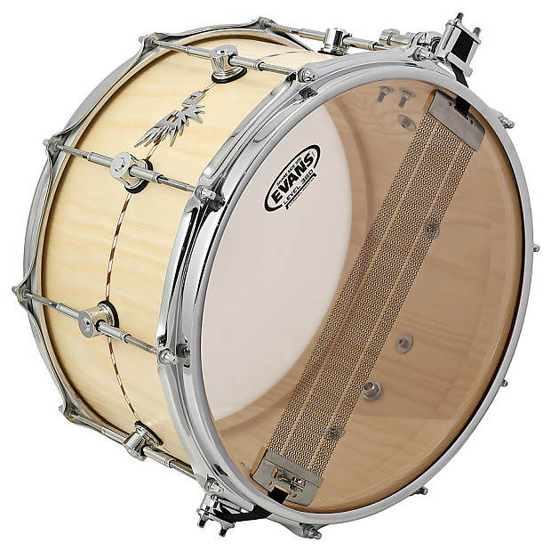 hendrix drums 8x14 solid stave ash snare drum with inlay reverb. Black Bedroom Furniture Sets. Home Design Ideas