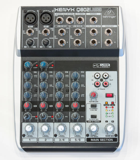 behringer xenyx q802 usb mixer audio interface reverb. Black Bedroom Furniture Sets. Home Design Ideas