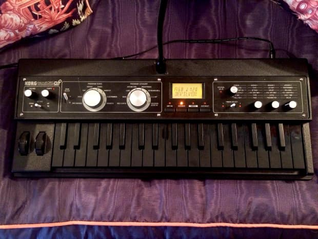 korg microkorg xl plus all black rare with mic limited reverb. Black Bedroom Furniture Sets. Home Design Ideas