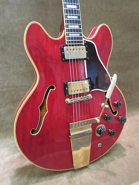 1968 gibson es 355 tdc stereo cherry red w maestro. Black Bedroom Furniture Sets. Home Design Ideas