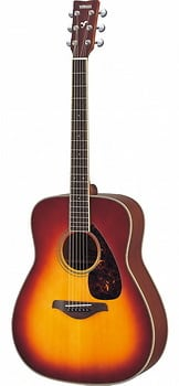 Yamaha fg 720 s acoustic guitar brown sunburst reverb for Yamaha fg830 specs