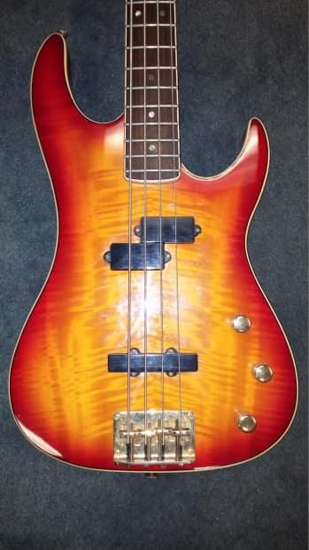 samick valley arts custom pro shop bass guitar cherry burst reverb. Black Bedroom Furniture Sets. Home Design Ideas