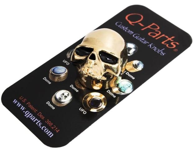 q parts skull ii custom guitar volume tone knob gold reverb. Black Bedroom Furniture Sets. Home Design Ideas