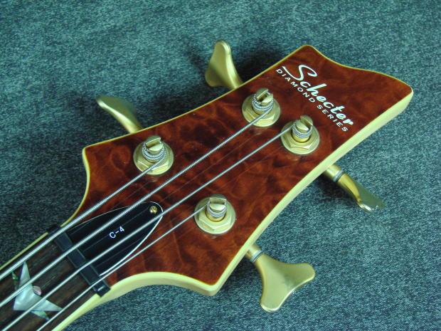 2004 schecter diamond series c 4 quilt top electric bass guitar w bag reverb. Black Bedroom Furniture Sets. Home Design Ideas