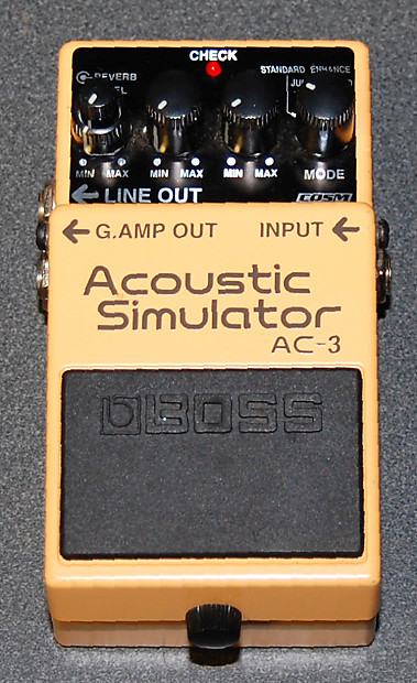 boss ac 3 acoustic simulator yellow guitar effects pedal reverb. Black Bedroom Furniture Sets. Home Design Ideas
