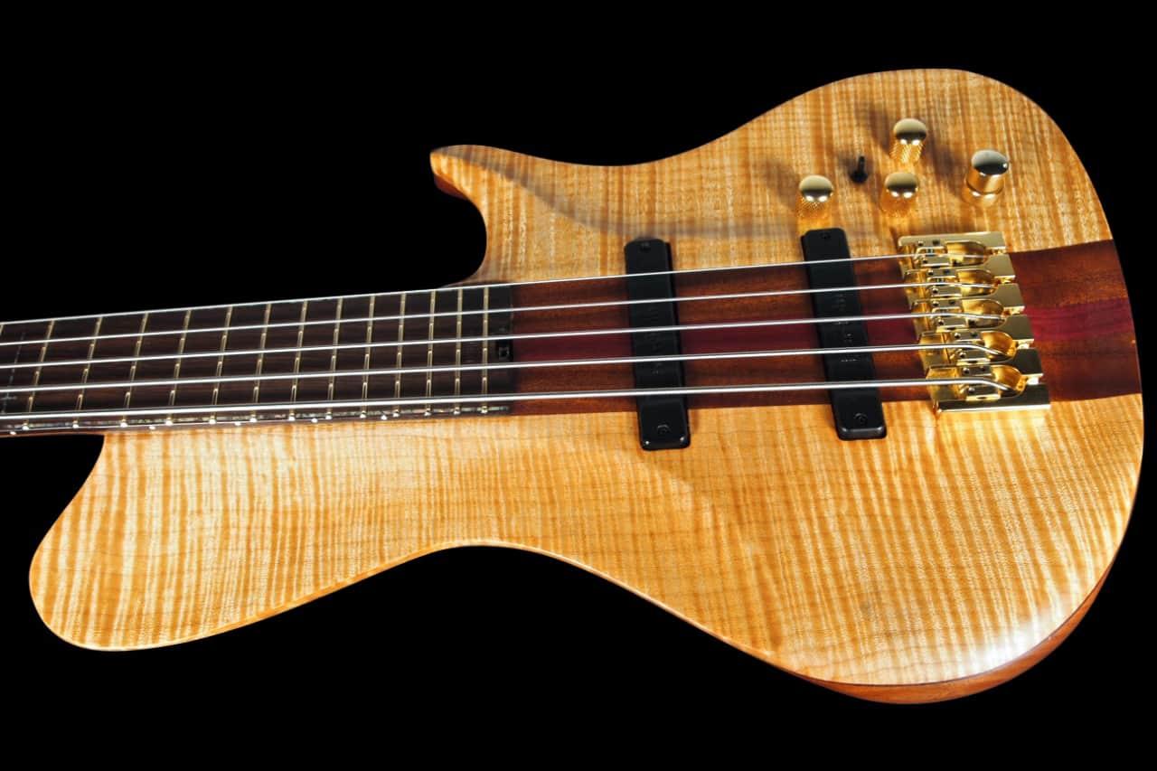 warrior isabella 5 string bass w flamed maple top neck thru reverb. Black Bedroom Furniture Sets. Home Design Ideas