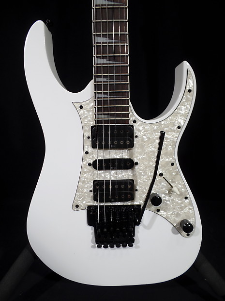 ibanez rg350dx white with infinity pickups wizard ii neck reverb. Black Bedroom Furniture Sets. Home Design Ideas