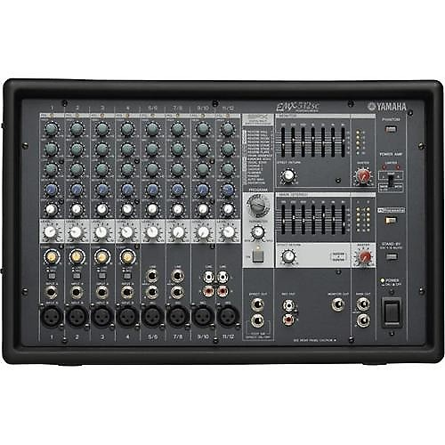 Yamaha emx512sc dual 500 watt 12 input 8 channel powered for Yamaha mg16xu dimensions