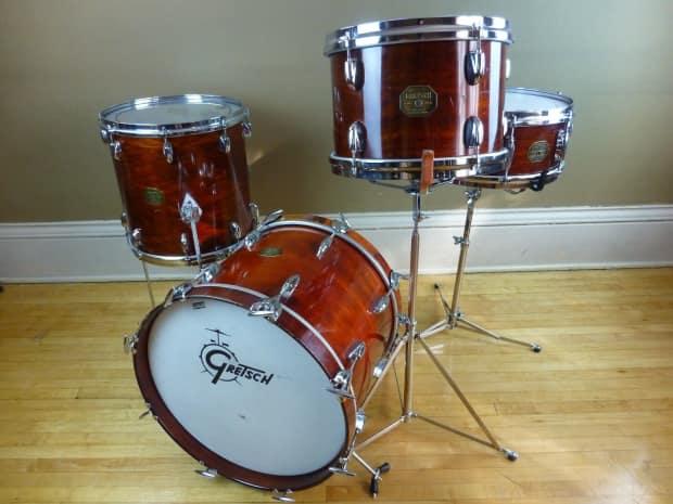 vintage 1970 39 s gretsch bop jazz drum set reverb. Black Bedroom Furniture Sets. Home Design Ideas