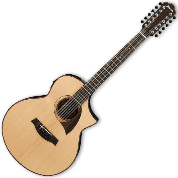 ibanez aew2212cd nt cordia 12 string exotic wood acoustic electric guitar natural gloss finish. Black Bedroom Furniture Sets. Home Design Ideas