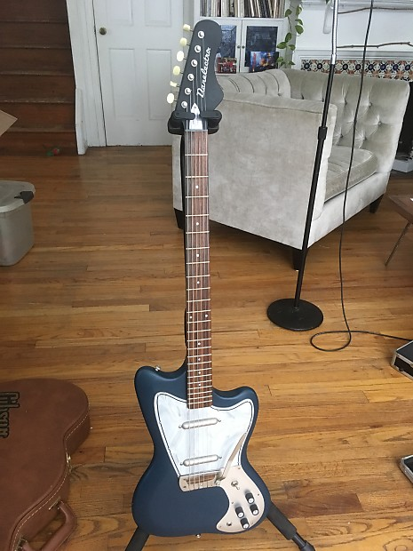 danelectro dead on 67 baritone guitar blue reverb. Black Bedroom Furniture Sets. Home Design Ideas