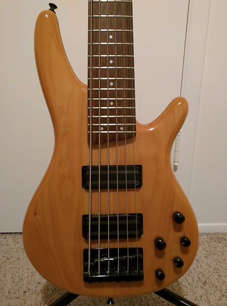 ibanez 6 string bass with lace alumitone pickups made in reverb. Black Bedroom Furniture Sets. Home Design Ideas