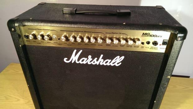 marshall mg100dfx 100 watt 1x12 combo guitar amp look reverb. Black Bedroom Furniture Sets. Home Design Ideas