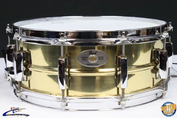 pearl sensitone custom alloy brass shell 14 x 6 5 snare reverb. Black Bedroom Furniture Sets. Home Design Ideas