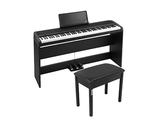 korg b1sp 88 weighted key digital piano with stand three reverb. Black Bedroom Furniture Sets. Home Design Ideas