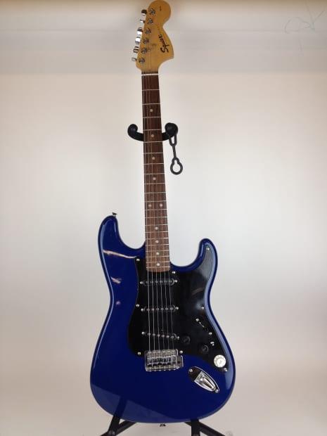 fender squier strat electric guitar 2001 blue reverb. Black Bedroom Furniture Sets. Home Design Ideas