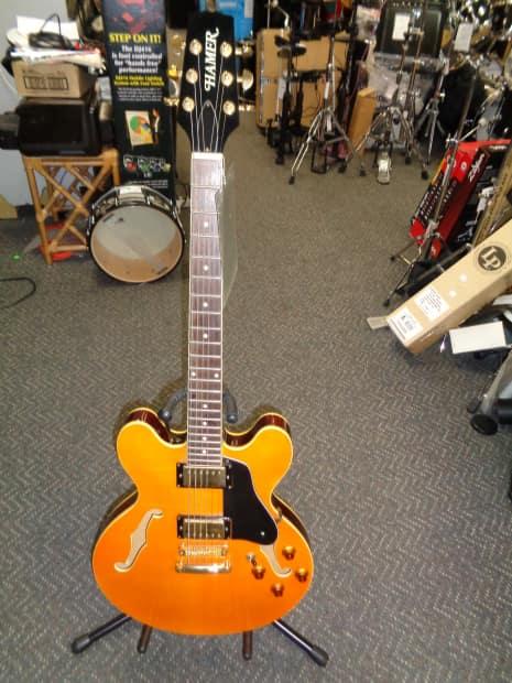 used hamer semihollowbody electric guitar orange made in reverb. Black Bedroom Furniture Sets. Home Design Ideas