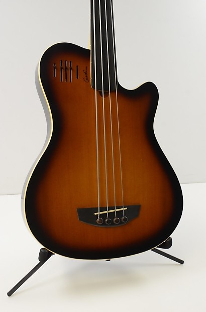 godin a4 fretless semi acoustic electric bass guitar reverb. Black Bedroom Furniture Sets. Home Design Ideas