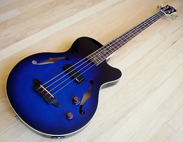 yamaha bex4 hollowbody acoustic electric bass guitar w piezo reverb. Black Bedroom Furniture Sets. Home Design Ideas