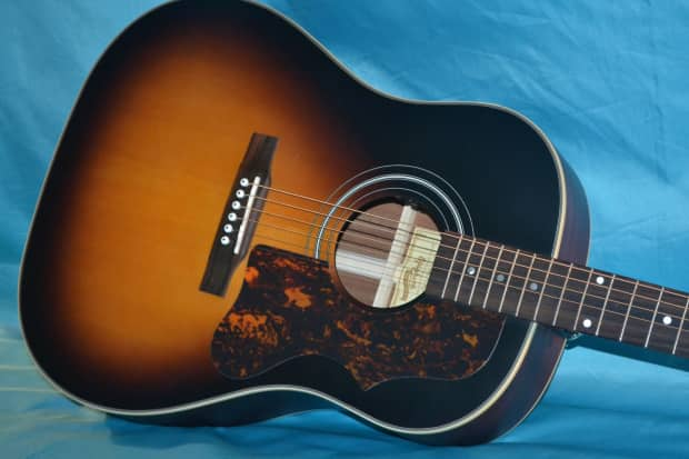 epiphone 2015 aj 45me masterbilt shadow sonic preamp watch reverb. Black Bedroom Furniture Sets. Home Design Ideas