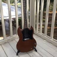 <p>Gibson SG Junior 1967 Cherry Refin</p>  for sale