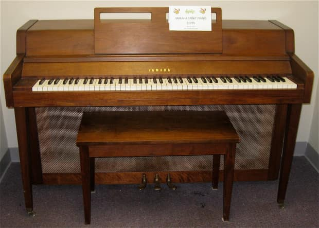 Yamaha spinet acoustic upright piano reverb for Yamaha console piano prices