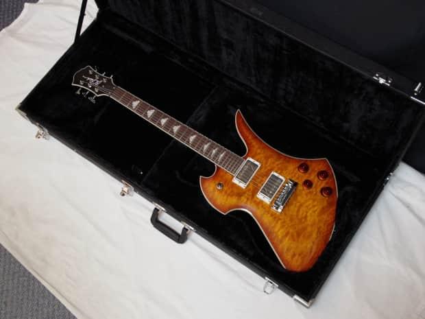 bc rich mockingbird flux electric guitar amber burst w case reverb. Black Bedroom Furniture Sets. Home Design Ideas