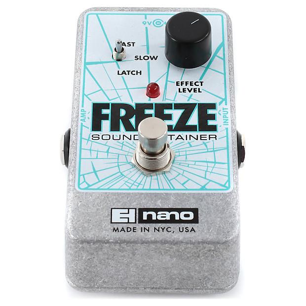 electro harmonix freeze sound retainer compression pedal reverb. Black Bedroom Furniture Sets. Home Design Ideas