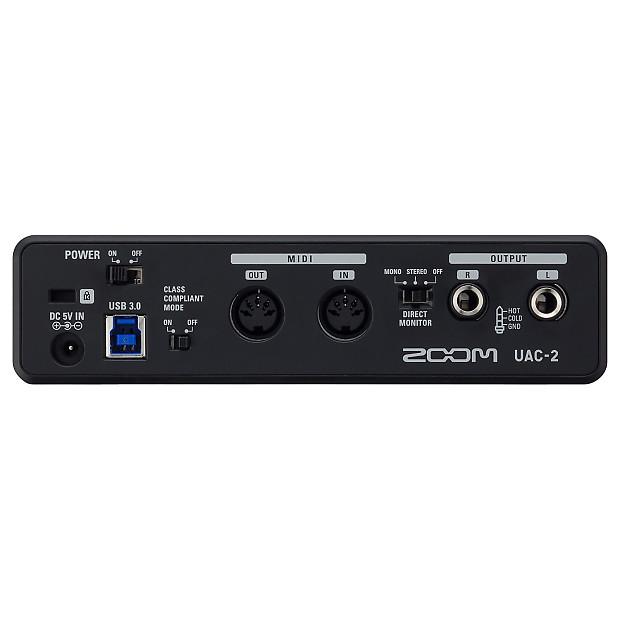 zoom uac 2 usb 3 0 audio recording interface reverb. Black Bedroom Furniture Sets. Home Design Ideas
