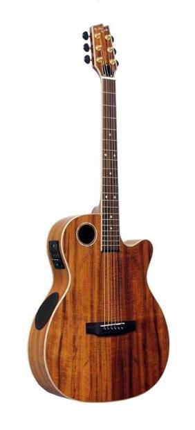 boulder creek solitaire om body solid koa top acoustic electric guitar ecrm6 n reverb. Black Bedroom Furniture Sets. Home Design Ideas