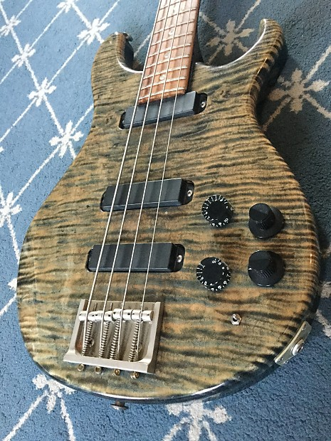 paul reed smith bass guitar 1988 faded whale blue reverb