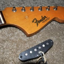 original pre-CBS 1964 Fender neck, tuners & single coil pickup image