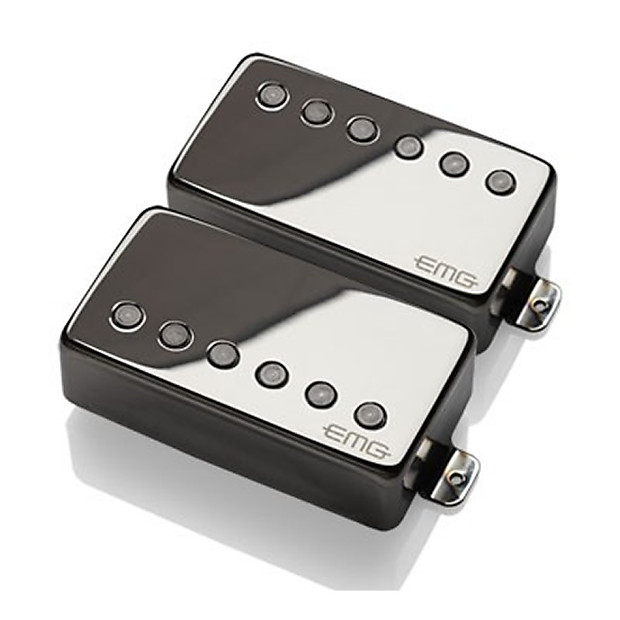 emg metalworks 57 66 humbucker solder less pickup set black reverb. Black Bedroom Furniture Sets. Home Design Ideas