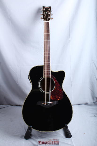 yamaha fsx730sc small body cutaway acoustic electric guitar black reverb. Black Bedroom Furniture Sets. Home Design Ideas