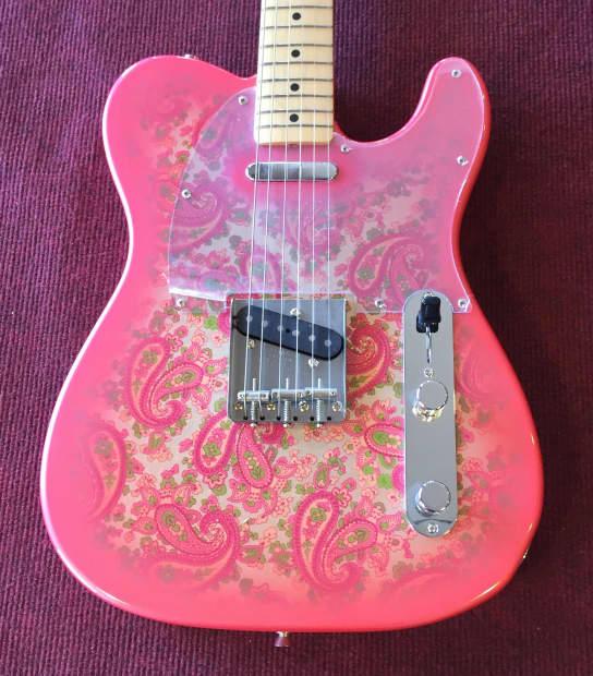 fender pink paisley 1968 reissue telecaster 1995 6 reverb. Black Bedroom Furniture Sets. Home Design Ideas