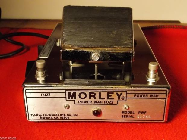 morley pwf power wah fuzz pedal tel ray vintage excellent condition early one reverb. Black Bedroom Furniture Sets. Home Design Ideas