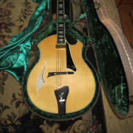 <p>Parker  PJ14 Hollow Body Jazz Guitar - never been owned 2009 Natural</p>  for sale